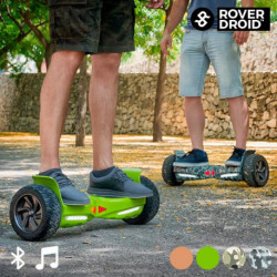 Electric Hoverboard Bluetooth Scooter with Rover Droid Stor 190 Speaker Pistachio Green
