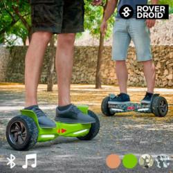 Skate Hoverboard Elettrico Bluetooth con Altoparlanti Rover Droid Stor 190 Verde Pistacchio