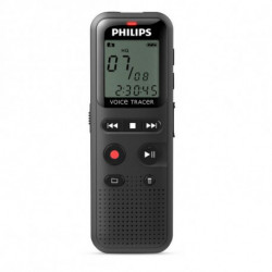 Philips DVT1150 dictáfono Memoria interna Negro