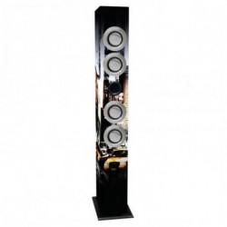 iWown Lautsprecherturm mit Karaoke-Mikrofon 4 x 3W USB/SD/MMC