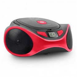 SPC Clap Boombox Tragbarer CD-Player Schwarz, Rot 4501R