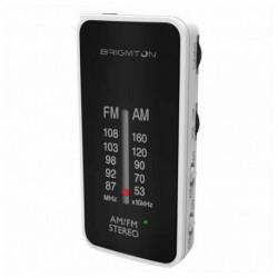 Brigmton BT-224 radio Portatile Analogico Nero, Bianco BT-224-B