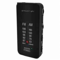 Brigmton BT-224 Radio Tragbar Analog Schwarz BT-224-N