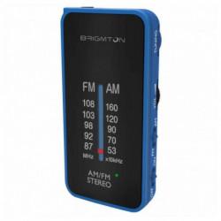 Brigmton BT-224 Radio Tragbar Analog Schwarz, Blau BT-224-A
