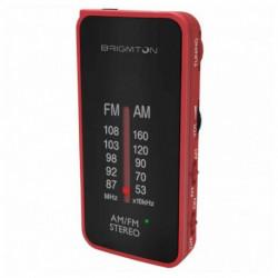 Brigmton BT-224 radio Portátil Analógica Negro, Rojo BT-224-R