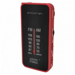 Brigmton BT-224 Radio Tragbar Analog Schwarz, Rot BT-224-R
