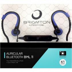 Brigmton BML 11 Mobiles Headset Monophon im Ohr Schwarz, Blau BML-11-A
