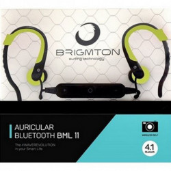 Brigmton BML 11 mobile headset Monaural In-ear Black,Green BML-11-V