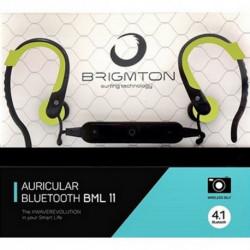 Brigmton BML 11 Mobiles Headset Monophon im Ohr Schwarz, Grün BML-11-V