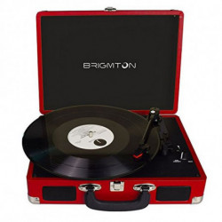 Brigmton BTC-404-R audio turntable Red