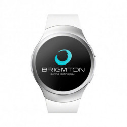 BRIGMTON Montre intelligente BWATCH-BT5 1.2 54 g Blanc