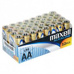 Maxell Pilhas Alcalinas MXBLR06P32 LR06 AA 1.5V (32 pcs)
