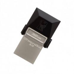 Kingston Technology DataTraveler 32GB microDuo 3.0 unidad flash USB USB Type-A / Micro-USB 3.0 (3.1 Gen 1) Negro DTDUO3/32GB