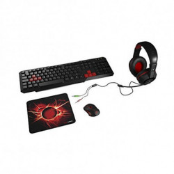 Mars Gaming MACP1 tastiera USB QWERTY Spagnolo Rosso