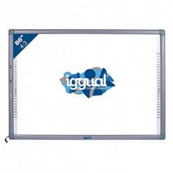 iggual IGG314371 quadro branco interativo 2,18 m (86) Ecrã táctil USB Cinzento, Branco
