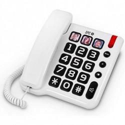 SPC Téléphone Fixe pour Personnes Âgées 3294 Blanc