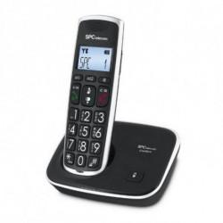SPC 7608N téléphone Téléphone DECT Noir Identification de l'appelant