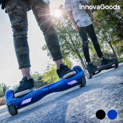 InnovaGoods Patinete Eléctrico Hoverboard Negro