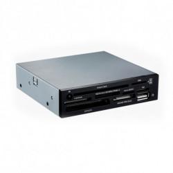 TooQ TQR-202B leitor de cartões Interno Preto USB 2.0