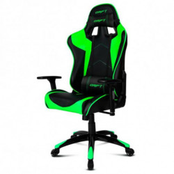 DRIFT Sedia Gaming DR300BG 90-160º Spumă Nero Verde