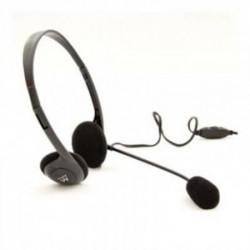Ewent EW3563 conjunto de auscultadores e microfone Binaural Fita de cabeça Preto