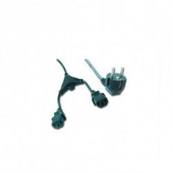 iggual IGG311196 cable de transmisión Negro 2 m CEE7/7 Acoplador C13 2 x