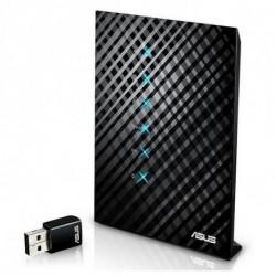 ASUS RT-AC52U router inalámbrico Doble banda (2,4 GHz / 5 GHz) Ethernet rápido Negro 90IG03N0-BM3110