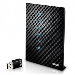 ASUS RT-AC52U wireless router Dual-band (2.4 GHz / 5 GHz) Fast Ethernet Black 90IG03N0-BM3110