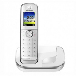 Panasonic Téléphone Sans Fil KX-TGJ310SPW DECT 1,8 TFT GAP Blanc