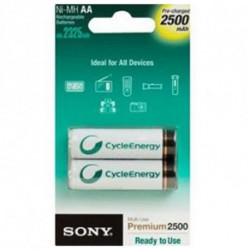 Sony Ni-MH, AA, 2500 mAh Rechargeable battery Nickel-Metal Hydride (NiMH) NH-AAB2GN