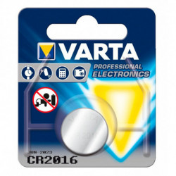 Varta Lithium Button Cell Battery CR-2016 3 V Silver
