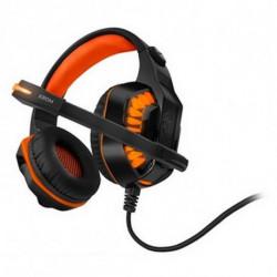 Krom Auriculares con Micrófono Gaming NXKROMKNR Konor Ultimate   Naranja/Negro