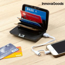 InnovaGoods Porte-Cartes de Sécurité et Power Bank
