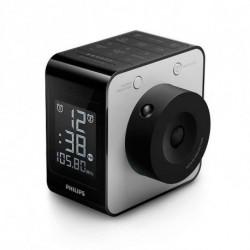 Philips Radiowecker AJ4800/12 LCD FM Digital Schwarz