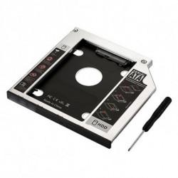 Ewent EW7003 Housse de disques de stockage Acrylonitrile-Butadiène-Styrène (ABS), Aluminium Noir, Blanc