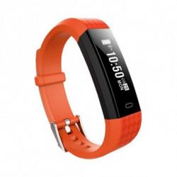Brigmton BSPORT-B1-O tracker d'activité Bracelet connecté Noir, Orange IP67 OLED 2,21 cm (0.87)