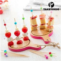 Conjunto de Bambu para Tapas Mini Tábuas TakeTokio (16 Peças)