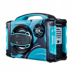 Brigmton BBOX-2 Radio portable Numérique Noir, Bleu