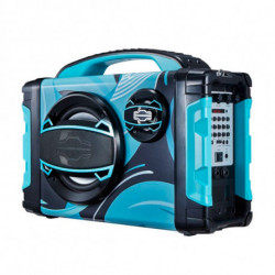 Brigmton BBOX-2 radio Portatile Digitale Nero, Blu