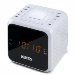 Daewoo Rádio Despertador DCR-450 Branco
