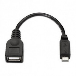 NANOCABLE Câble USB 2.0 A vers Micro USB B 10.01.3500 15 cm Noir