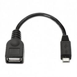 NANOCABLE Cabo USB 2.0 A para Micro USB B 10.01.3500 15 cm Preto