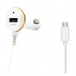Ladegerät fürs Auto Ref. 138192 USB Micro USB Weiß