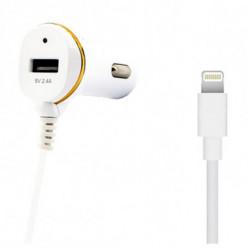 Cargador de Coche Ref. 138215 USB Cable Lightning Blanco