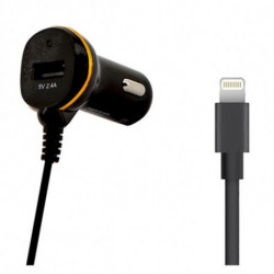 Caricabatterie per Auto Ref. 138222 USB Cable Lightning Nero