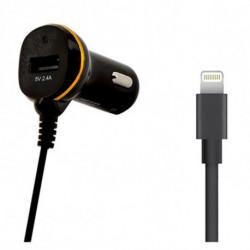 Chargeur de voiture Ref. 138222 USB Cable Lightning Noir