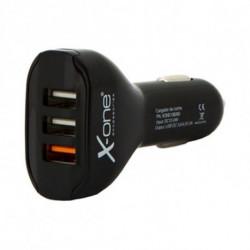 Carregador de Carro Ref. 138260 3 x USB-A Preto