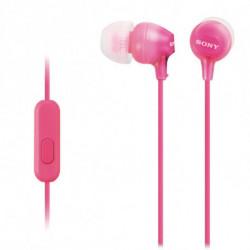 Sony Kopfhörer mit Mikrofon MDREX15APP Rosa MDR-EX15APPI