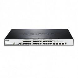 D-Link DGS-1510-28XMP commutateur réseau Géré L2/L3 Gigabit Ethernet (10/100/1000) Noir, Gris Connexion Ethernet, supportant...