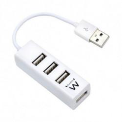 Ewent EW1122 interface hub USB 2.0 White